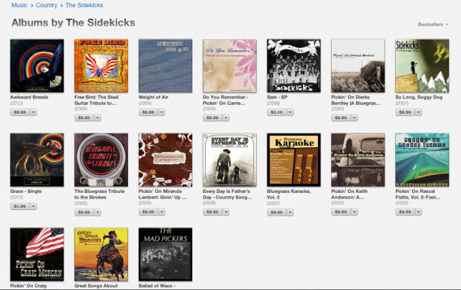 The Sidekicks albums in iTunes